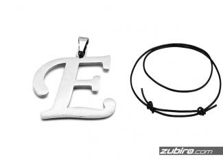 Naszyjnik męski litera E