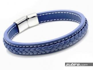 Niebieska bransoletka pleciona dla mężczyzny