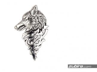 Pin męski z wilkiem