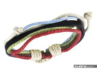Różnokolorowa bransoletka ze sznurków