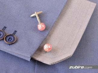 Spinki do koszuli różowe