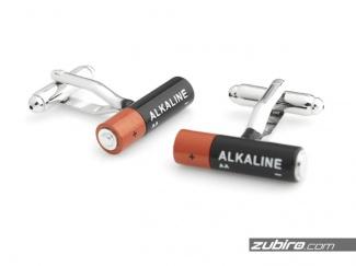 Spinki do mankietów baterie alkaliczne AA