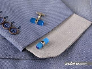 Spinki do mankietów niebieskie klasyczne