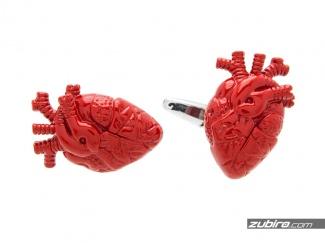 Spinki do mankietów realistyczne serca