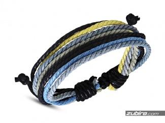 Sznurkowa bransoletka z niebieskim kolorem