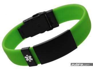 Zielona bransoletka medyczna dla faceta