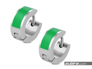 Zielone kolczyki małe męskie