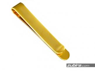 Złote spinki do krawata
