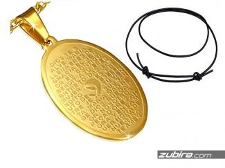 Złoty medalik z modlitwą